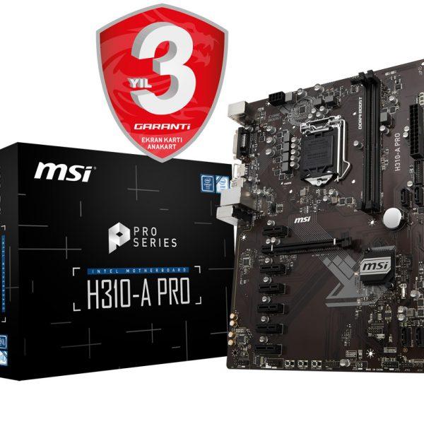 MSI H310-A PRO SOKET Anakart